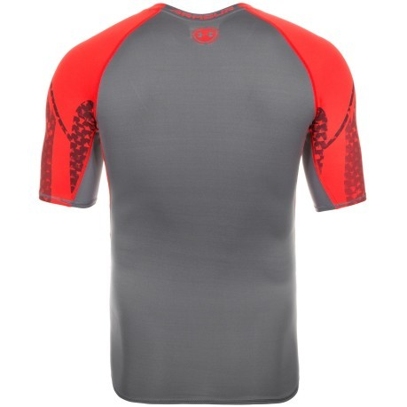 T-shirt Uomo Heat Gear Scope Compression SS grigio rosso