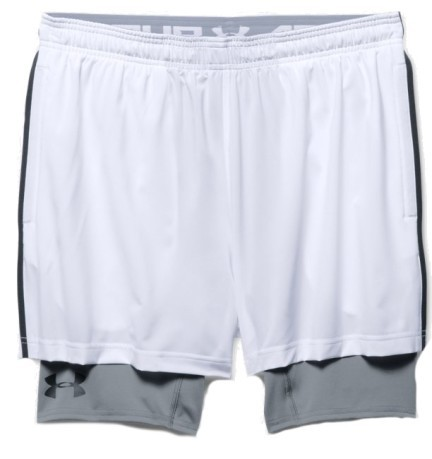 Short Uomo 2 in 1 Trainer nero