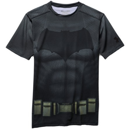 T-Shirt Uomo Batman Suit Compression SS grigio