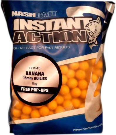 Boilies Istant Action Banana 20mm giallo