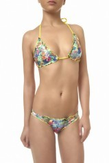 Bikini Donna Triangolo Hawaii fantasia giallo