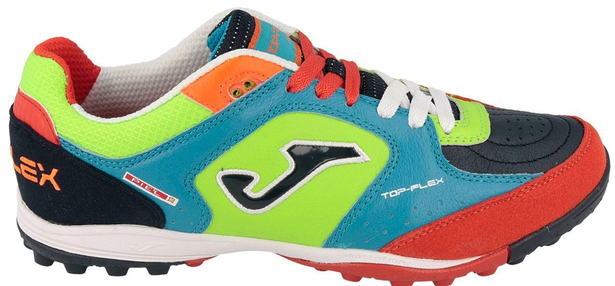 d7b3071a1 Shoes Calcetto Joma Top Flex TF colore Light blue Red - Joma - SportIT.com