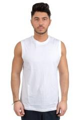 T-shirt Smanicata da Uomo Classic bianco