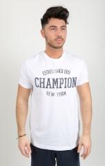 T-Shirt Uomo Classic American bianco