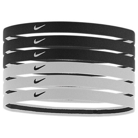 Elastic Swoosh Sports HeadBan black white b9db23b7ea3