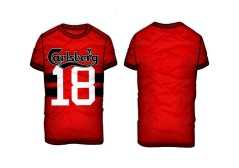 T-shirt Uomo Numero 18 rosso