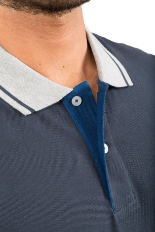 Polo Uomo Easy Fit blu variante 1