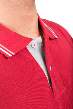 Polo Uomo Easy Fit rosso variante 1