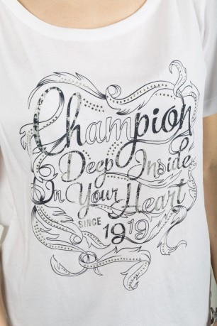 T-Shirt Donna Heritage bianco