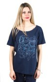 T-Shirt Donna Light Jersey blu