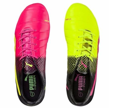 d893d3c51e7 Botas de fútbol Puma EvoPower 1.3 Trucos FG colore amarillo Rosa ...
