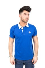 Polo Uomo Chris Jersey Collo Camicia blu variante 1