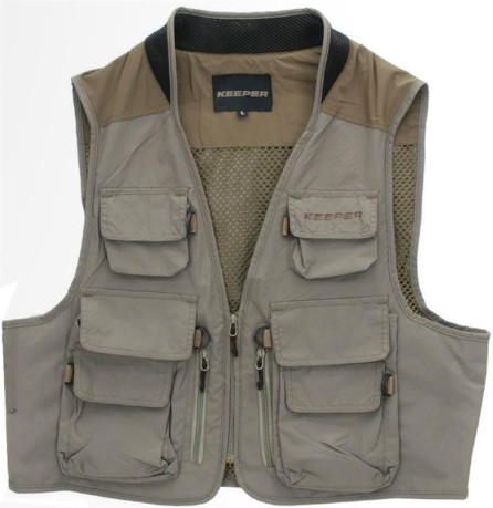 Keeper Vision Beige pesca colore Gilet RPq675xw