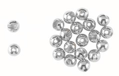Tugsten Bead Round Slot Plus silver
