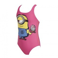 Costume Bambina Minion Stuard One Piece rosa fantasia