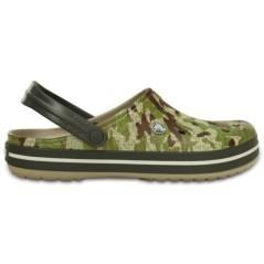 Croc Band Uomo  verde fantasia