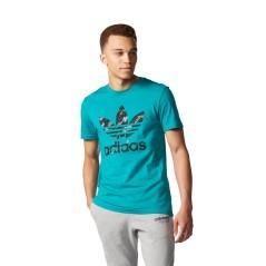 T-Shirt Trefoil verde-nero