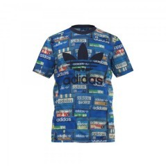 T-Shirt Trefoil Tee fantasia-blu