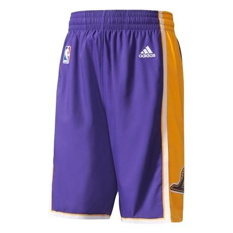 Shorts NBA Lakers colore Violet Yellow - Adidas - SportIT.com fcafc2ca9e87