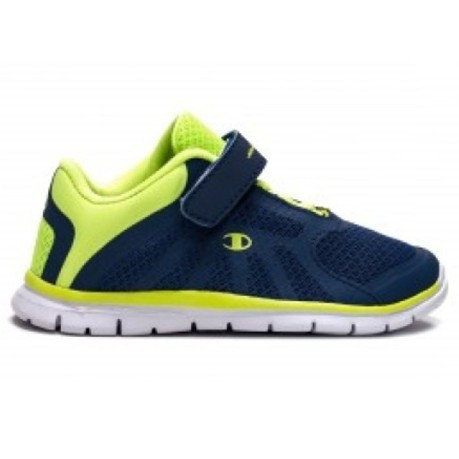 f189c23bda86 Shoe Child Alpha Lace With Velcro colore Blue Yellow - Champion -  SportIT.com