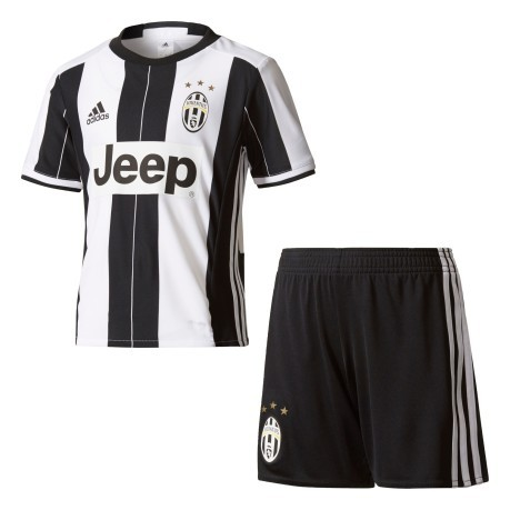 Mini Kit Home Juventus bianco nero 1