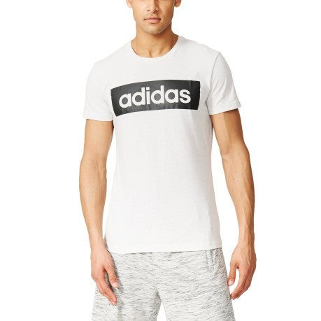 T-shirt Uomo Sports Essential Linear bianco nero
