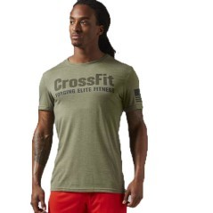 T-Shirt Uomo Crossfit Forging Elite Fitness verde