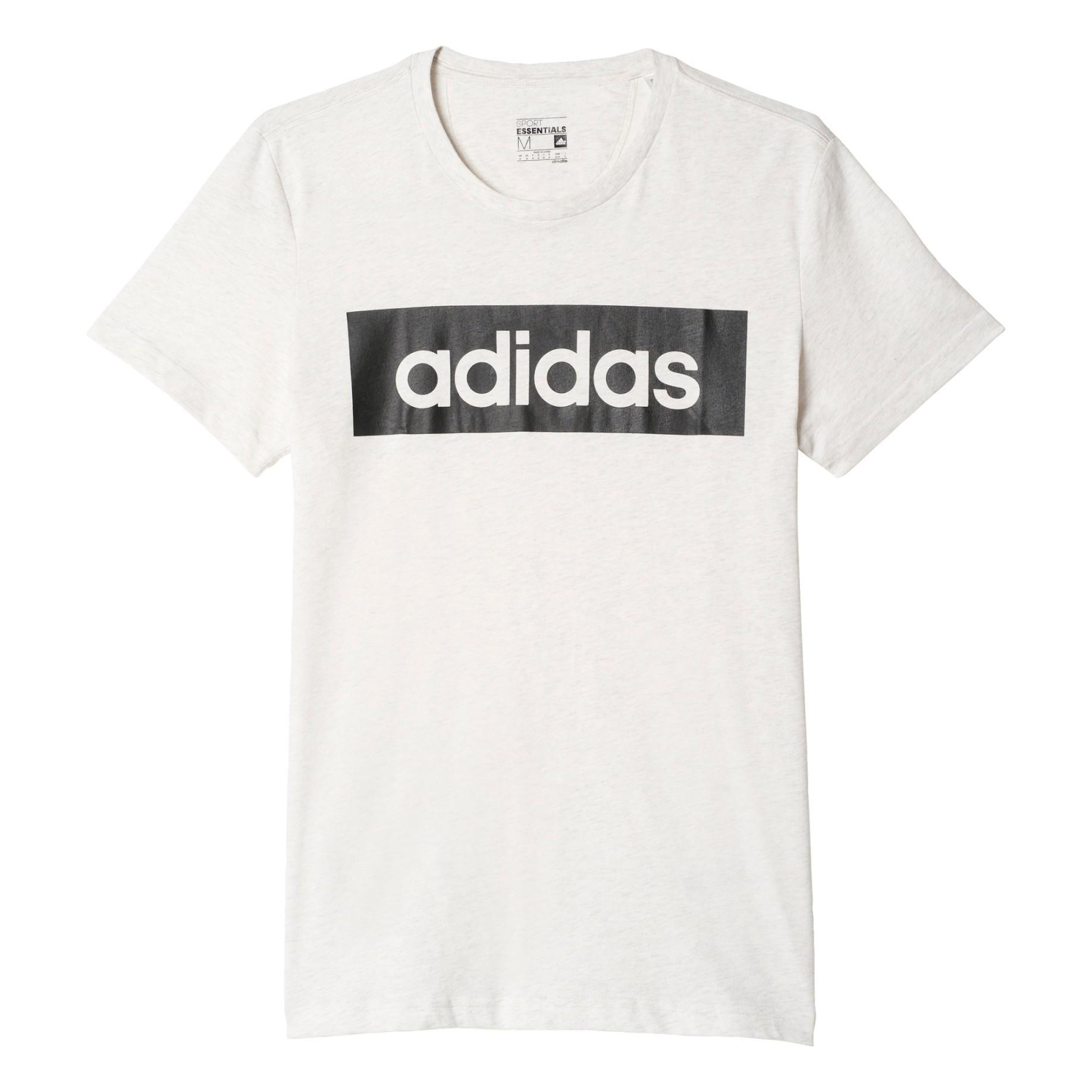 Shirt Colore Sport Homme Adidas Linéaire Noir T Blanc Essentielle TdwgXSxgq