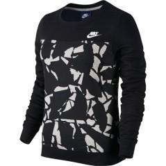 Felpa donna Sportswear Crew nero-fantasia