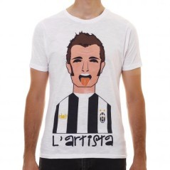 T-Shirt Uomo L'artista Del Piero bianco