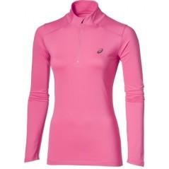 Maglia Donna Ls Mezza Zip rosa