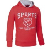 Sweat-shirt Enfant de remise en forme à Capuche rouge