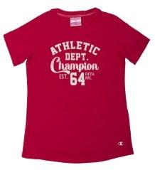 T-Shirt Bambina CrewNeck rosso