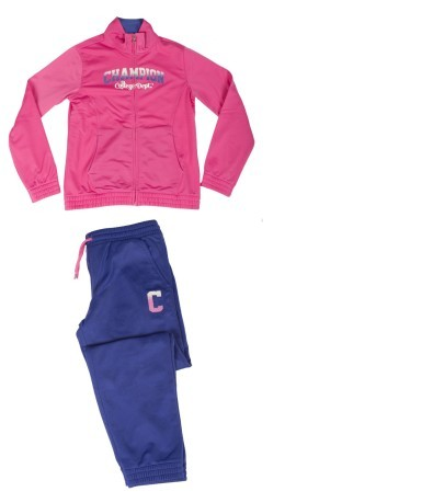 Tuta Triacetato bambina full Zip rosa viola