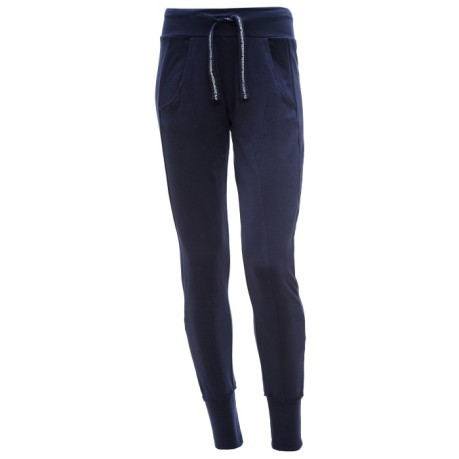 Pants Woman With Cuff blue