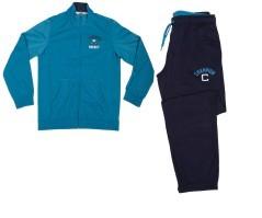 Tuta bambino Triacetato Tracksuit full zip azzurro blu