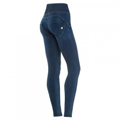 Pantalone Donna Wrup Fascia Alta blu