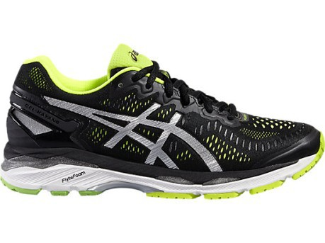Mens Shoes Gel Kayano 23 A4 Stable colore Black Grey - Asics ... 9c73b2484dd