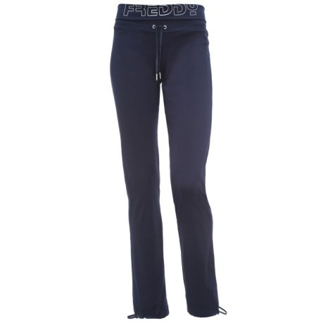 Pantaloni Donna Yoga Fit Interlock blu