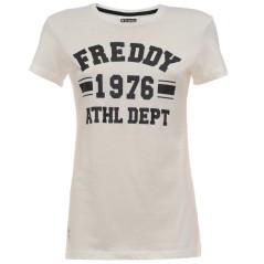 T-Shirt Donna Stampa Glitter bianco