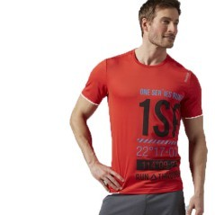 T-Shirt Uomo One Series Running Sleeve Graphic nero rosso