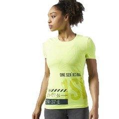 T-Shirt Donna One Series Running ActivChill giallo