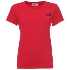 T-Shirt Donna Logo Stile Basic rosso