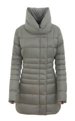 Woman coat High Neck grey