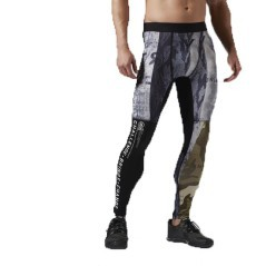 Tight Uomo One Series Winter Camo fantasia nero