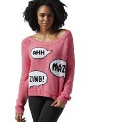 Maglione Donna Yoga rosa