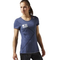 T-Shirt Donna CrossFit Training blu