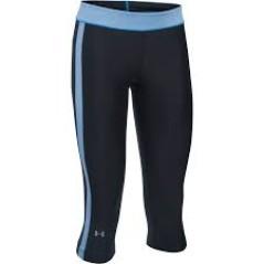 Capri Donna Heat Gear Armour Sport nero azzurro
