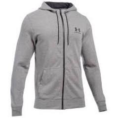 Felpa Uomo Sportstyle Fleece Zip grigio