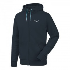 Felpa Uomo SolidLogo 2 Co Full Zip  blu